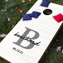 Load image into Gallery viewer, Personalized Monogram Cornhole Game Set