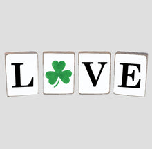 Load image into Gallery viewer, Love Shamrock Decorative Wooden Block Bundle