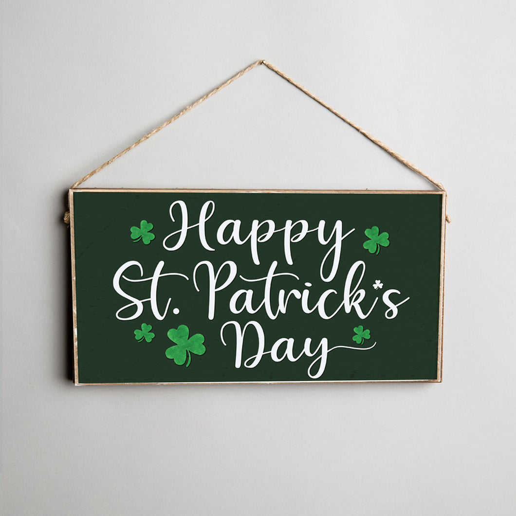 Happy St. Patrick's Day Twine Hanging Sign