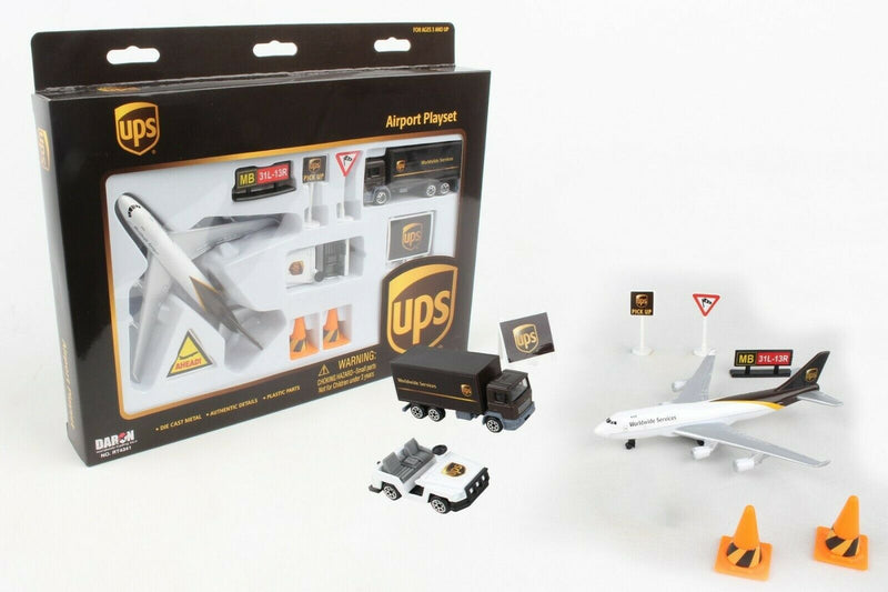 Daron UPS Toy Playset Die Cast Kit - Skywing World