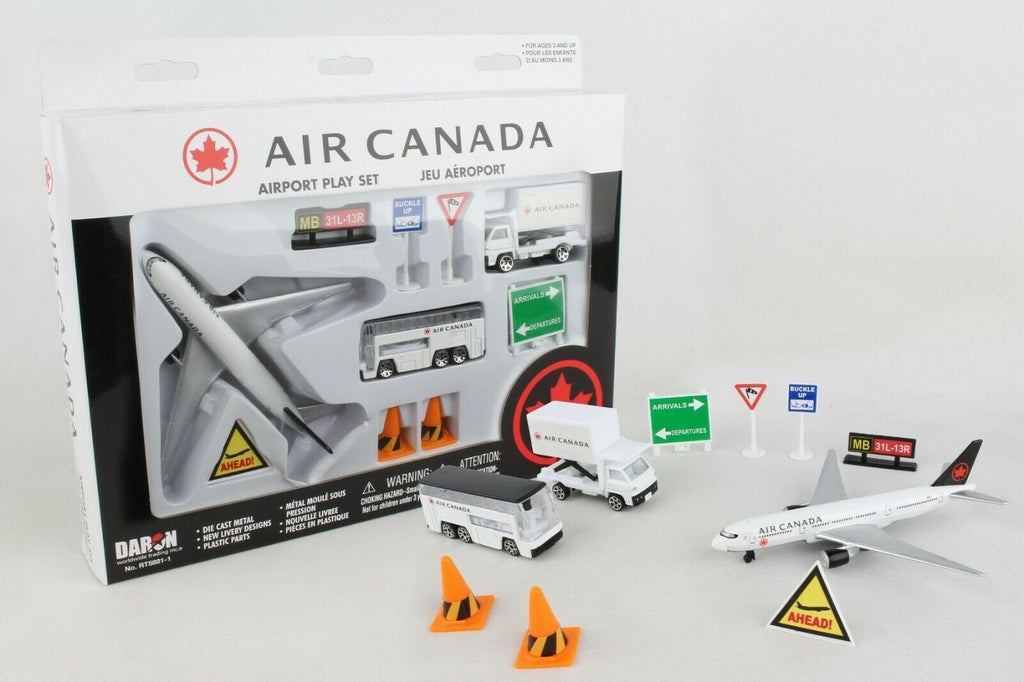 Daron Air Canada Airport Playset, 12-Piece RT5881-1 Die Cast - Skywing World
