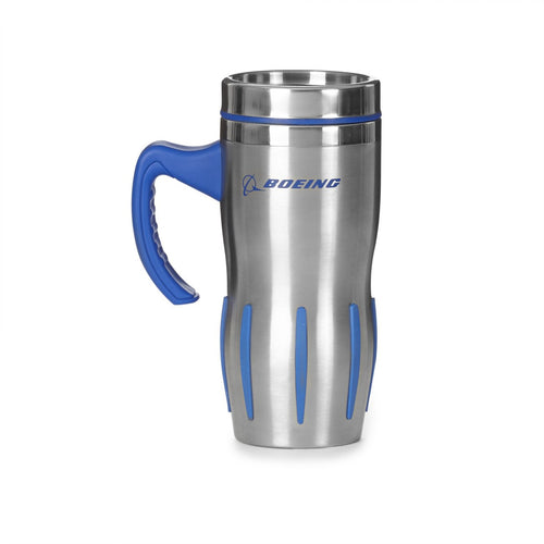 Official Boeing Jet Engine With Handle Stainless Steel Mug Tumbler - Skywing World