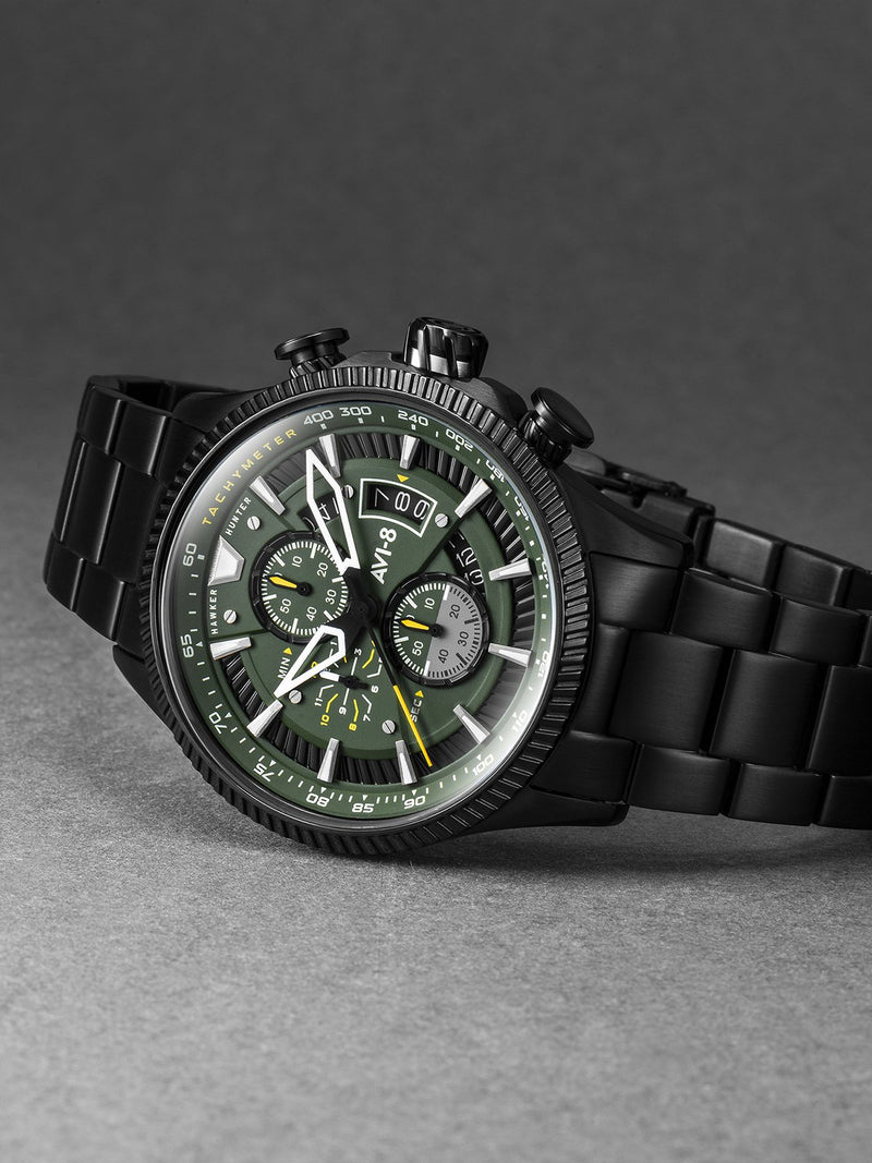 AVI-8 Hawker Hunter Men Chronograph Quartz Green AV-4064-11