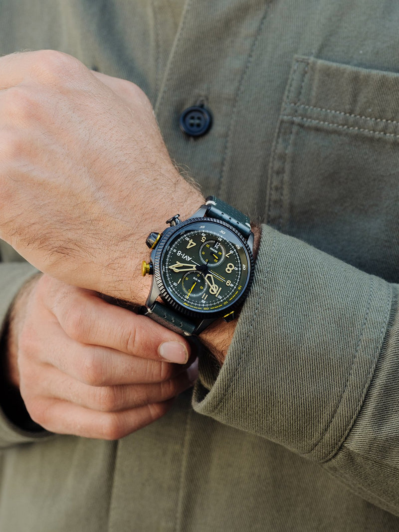 AVI-8 Hawker Hunter Men Chronograph Quartz Green AV-4080-03