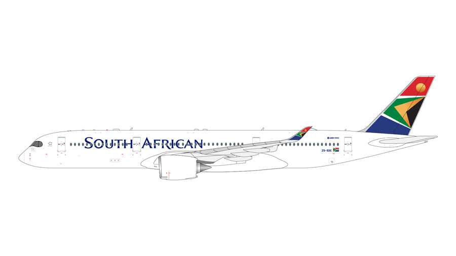 Gemini Jets South African Airways A350-900 1:400 Scale GJSAA1920 - Skywing World