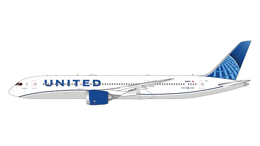 Gemimi Jets United B787-9 (New 2019 Livery) 1:400 Scale GJUAL1795 - Skywing World