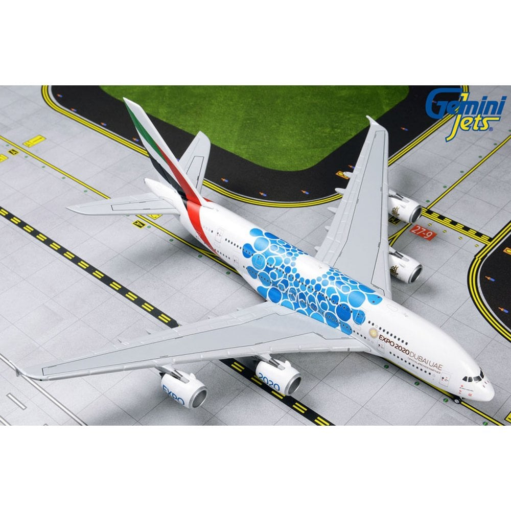 "Gemini Jets Emirates Airbus A380-800 ""Blue Expo"" 1:200 Scale G2UAE779 - Skywing World"