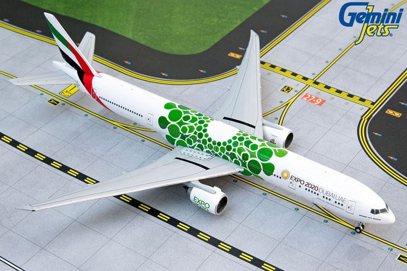 "Gemini Jets Emirates Boeing B777-300ER ""Green Expo"" 1:400 Scale GJUAE1817 - Skywing World"
