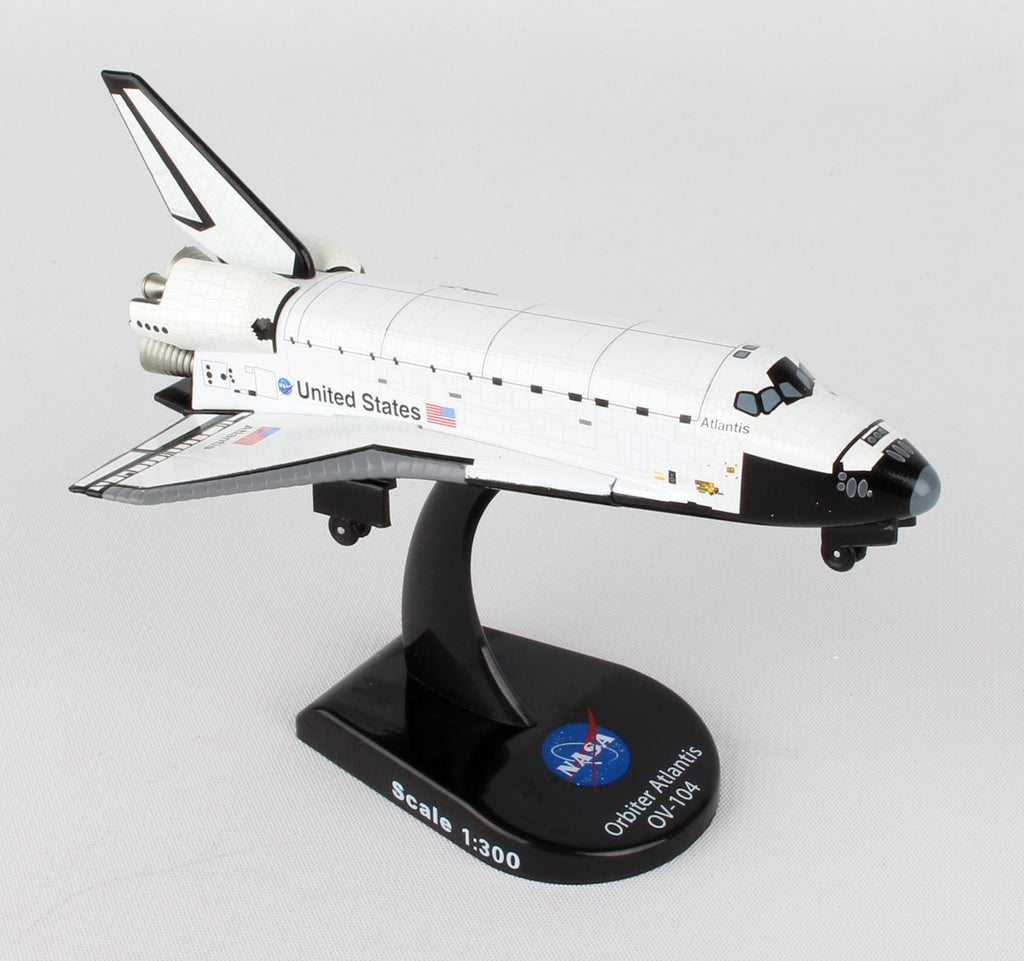 Daron Nasa Postage Stamp Space Shuttle Atlantis 1:300 Scale Die-Cast PS5823-1 - Skywing World