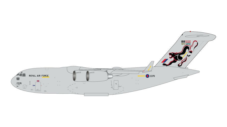 Gemini Macs RAF C-17 Globemaster III 99 Sqn Years 1:400 Scale - Skywing World