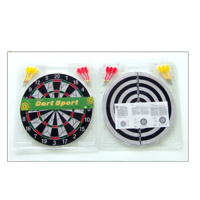 Double Sided Dart Board With 6 Darts