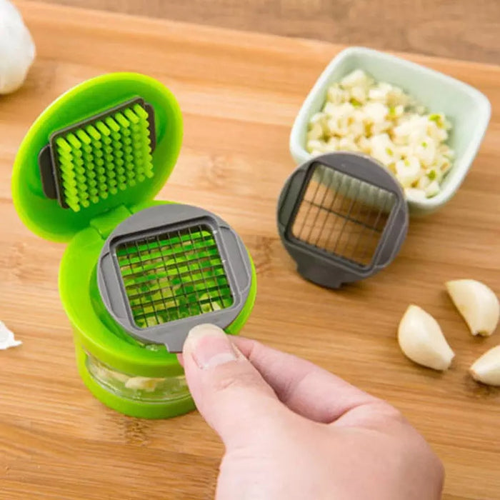 Portable Garlic Grater ABS Stainless Steel Garlic Press Slicer Hand Press Crusher