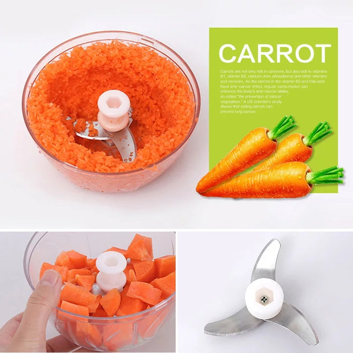 Powerful Handheld Meat Grinder, Chopper, Mixer, for Mincing Meat, Fruit, Nuts