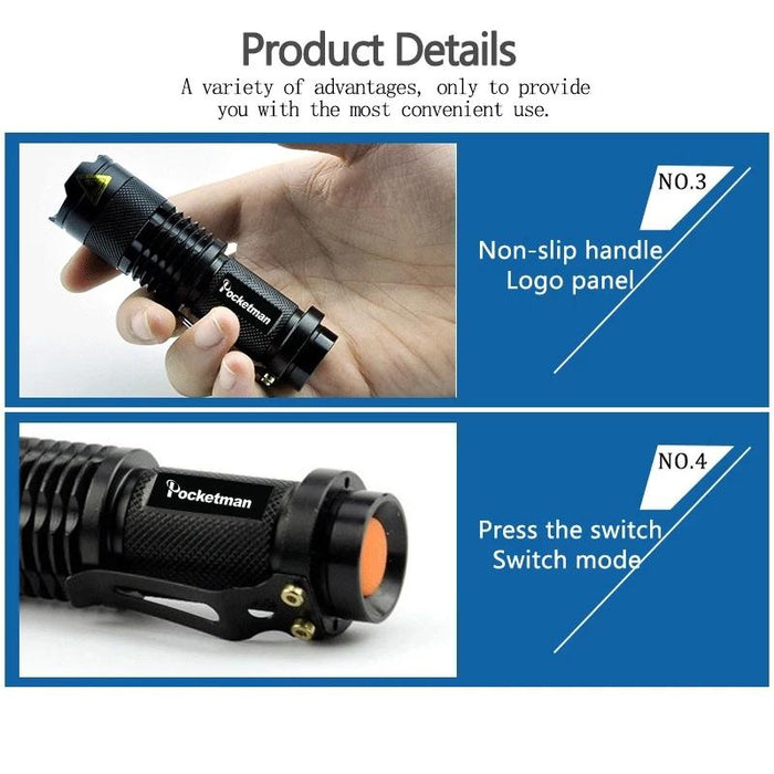 Mini Rechargeable  Flashlight Torch