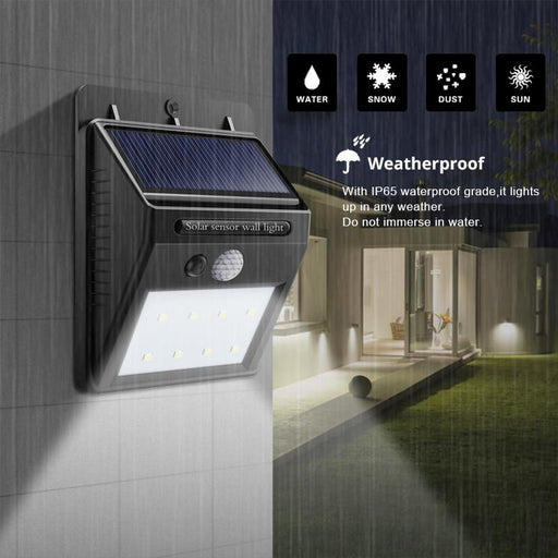 Rechargeable Solar LED Wall Light | Motion Sensor
