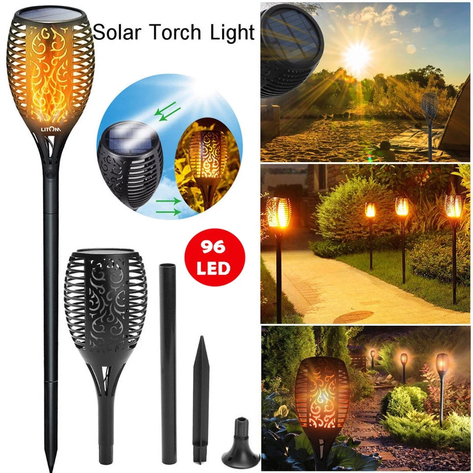 Solar Flame Light Garden Decoration
