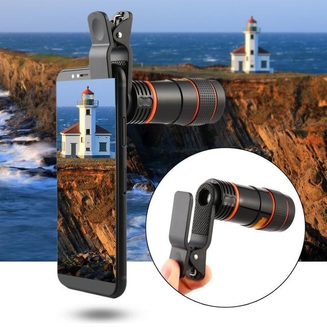 Universal 8X Zoom Optical Mobile Phone Telescope Lens