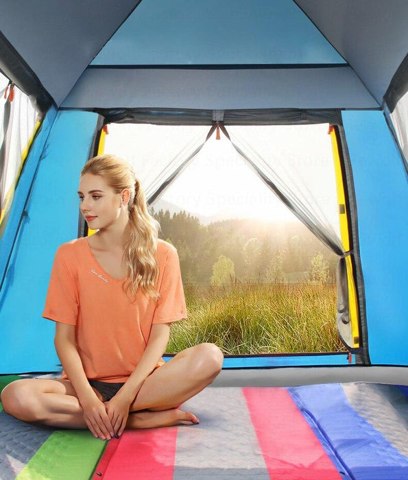 Double layer Waterproof Automatic Camping Tent