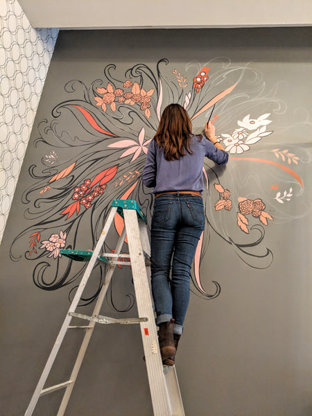 Insideout Beauty Studio Mural