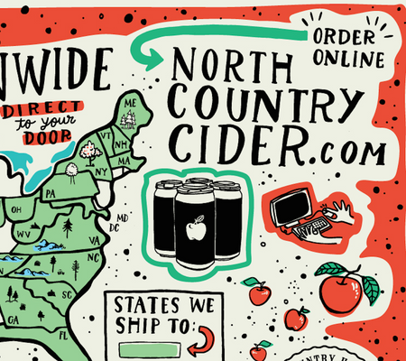 Distribution Map for North Country Hard Cider