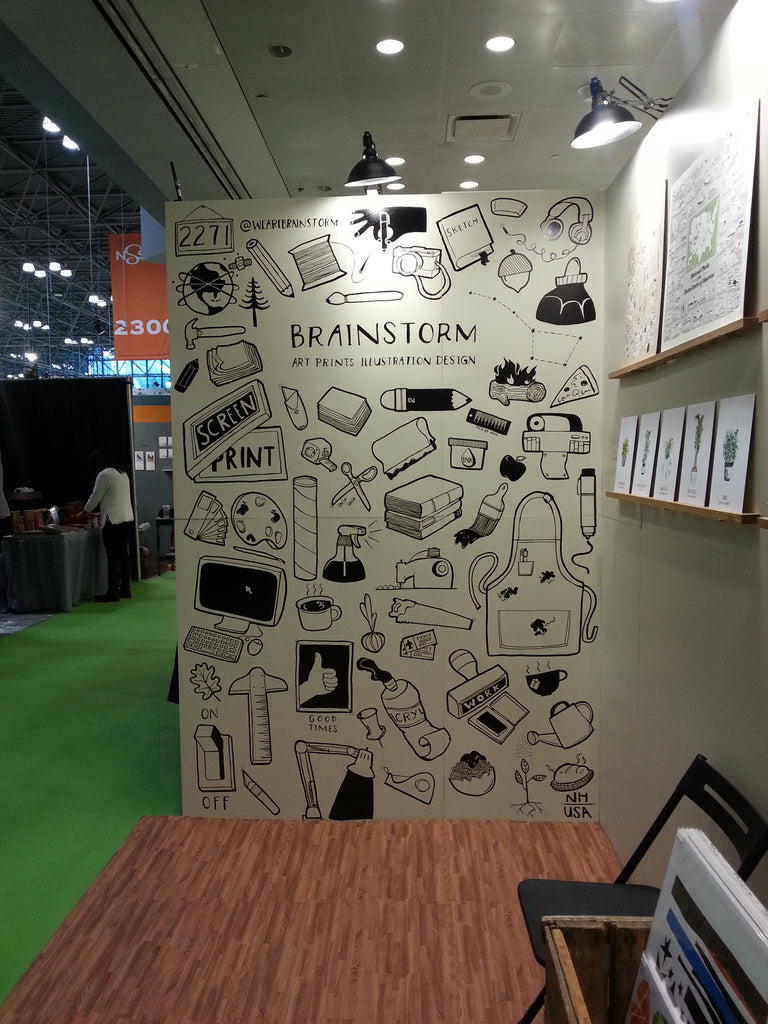 Brainstorm Trade Show Booth Mural - NYC