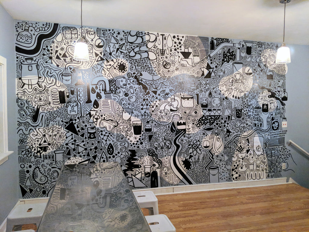 Brainstorm Mural for Garrison City Beerworks - Dover New Hampshire