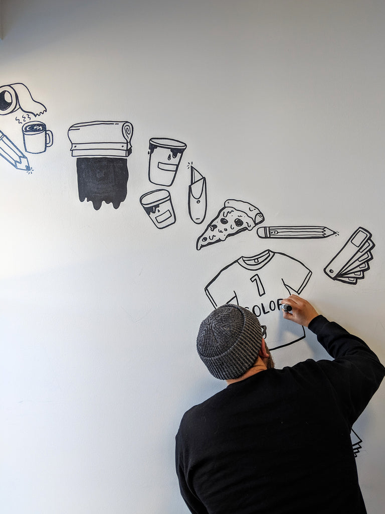 Brainstorm Mural for New Duds - Burlington VT