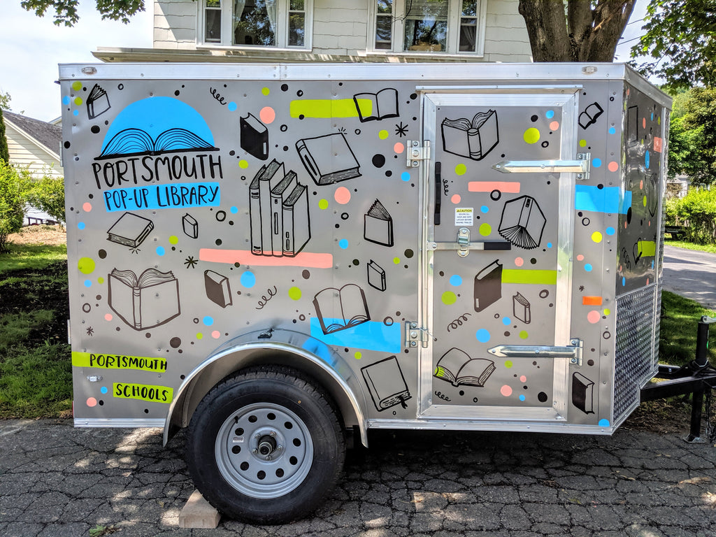 Brainstorm Library Bookmobile for the Portsmouth Middle School