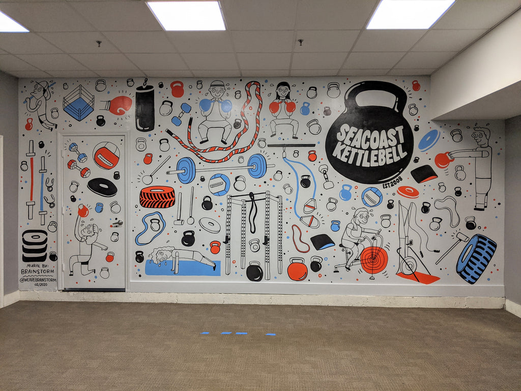 Seacoast Kettlebell Gym Mural by Brainstorm - Dover, NH 2020