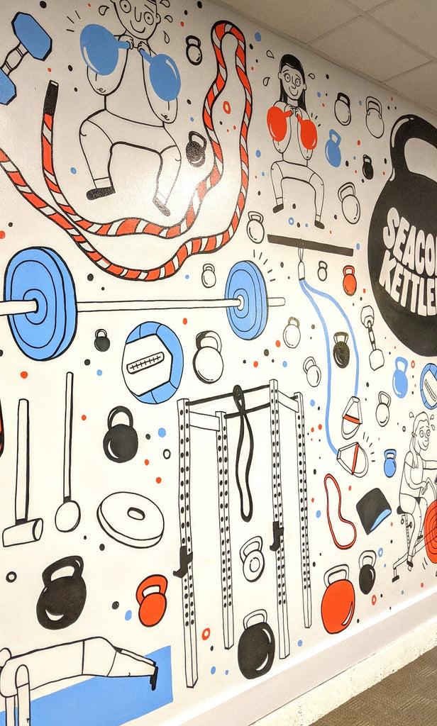 Seacoast Kettlebell Mural by Brainstorm - Dover, NH 2020