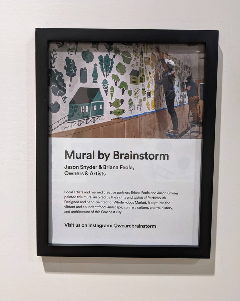 Brainstorm Mural for Whole Foods - Portsmouth, NH