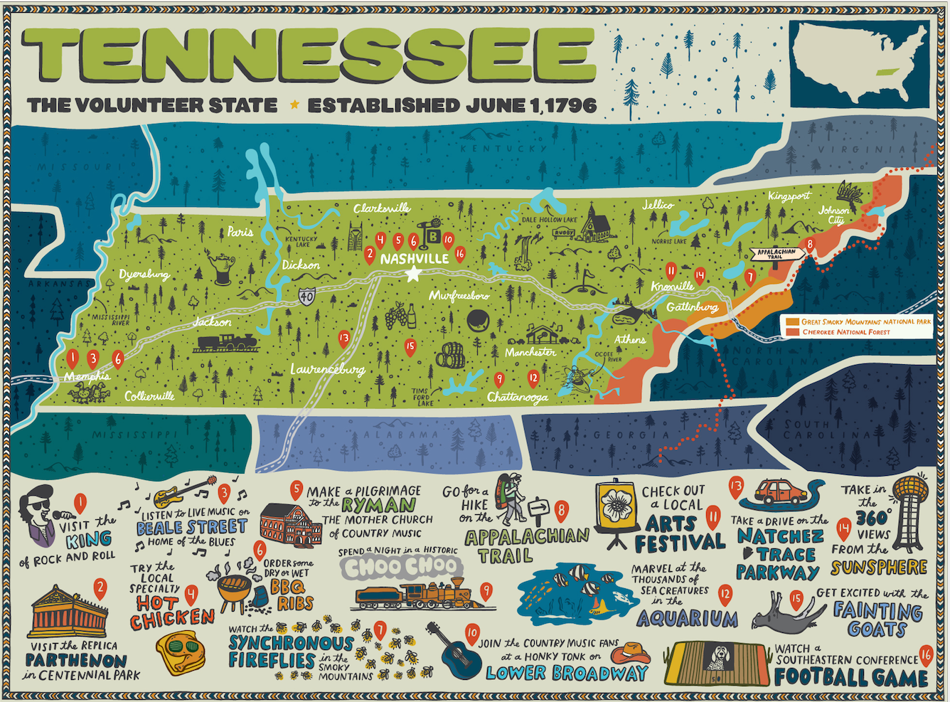 True South Tennessee Puzzle - Designed by Brainstorm