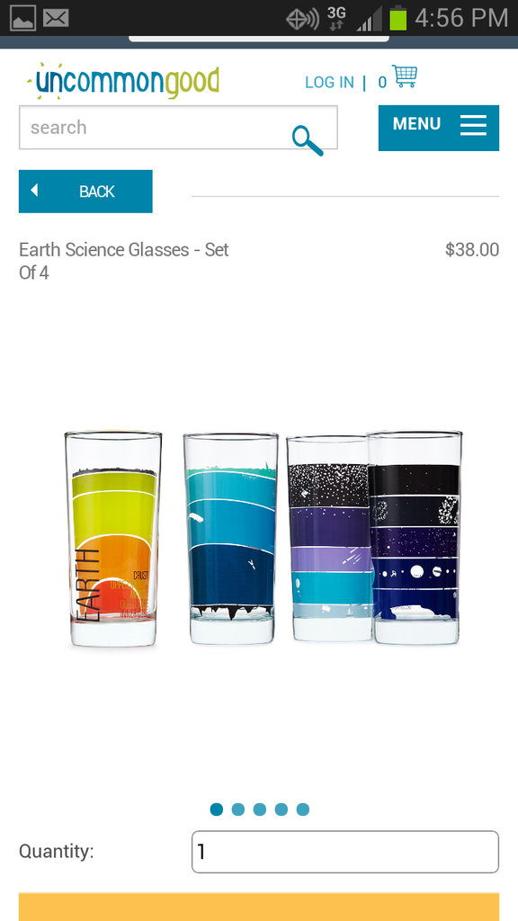 Brainstorm Earth Science Glassware for Uncommon Goods - 2013