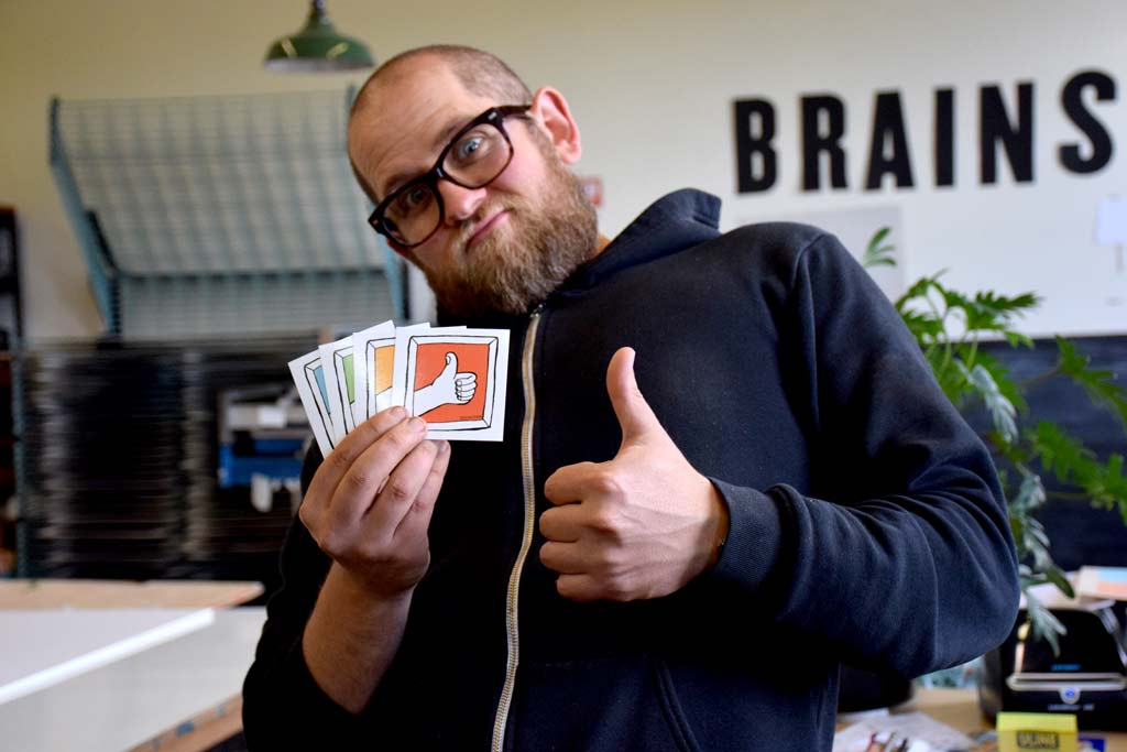 brainstorm summer stickers thumbs up