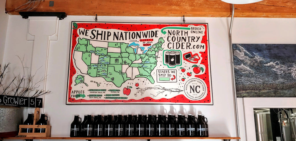 Brainstorm Distribution Map for North Country Hard Cider
