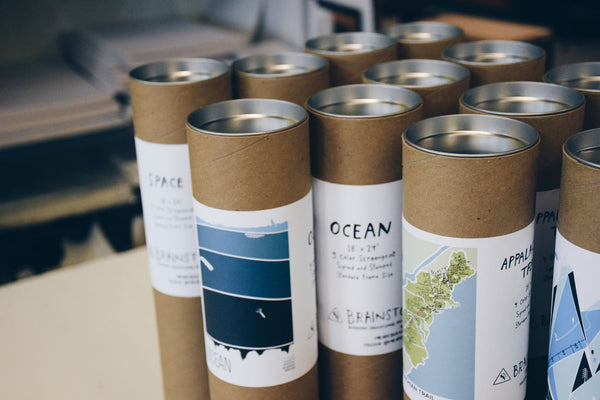 Brainstorm Prints in tubes