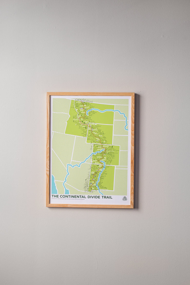 The Continental Divide Trail Map