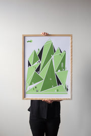 Mountain Hiking Print by Brainstorm