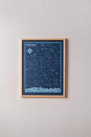 Northern Hemisphere Start Chart Print by Brainstorm - Constellations, Night Sky, Stars