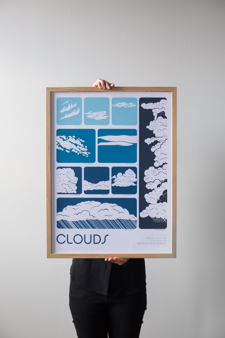 Clouds Print by Brainstorm - 5 Color Screen Print