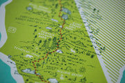 The Pacific Crest Trail Map Print by Brainstorm - PCT Trail Map