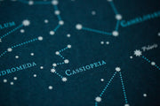 Northern Hemisphere Start Chart Print by Brainstorm - Cassiopeia Contellation