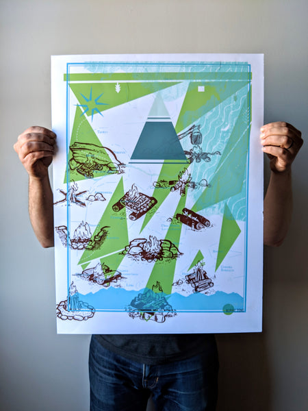 Test Print #12 by Brainstorm - One of a kind screen print made by chance!