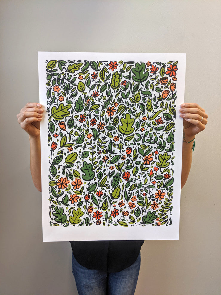 Brainstorm Wild Garden Print - Limited Edition of 50