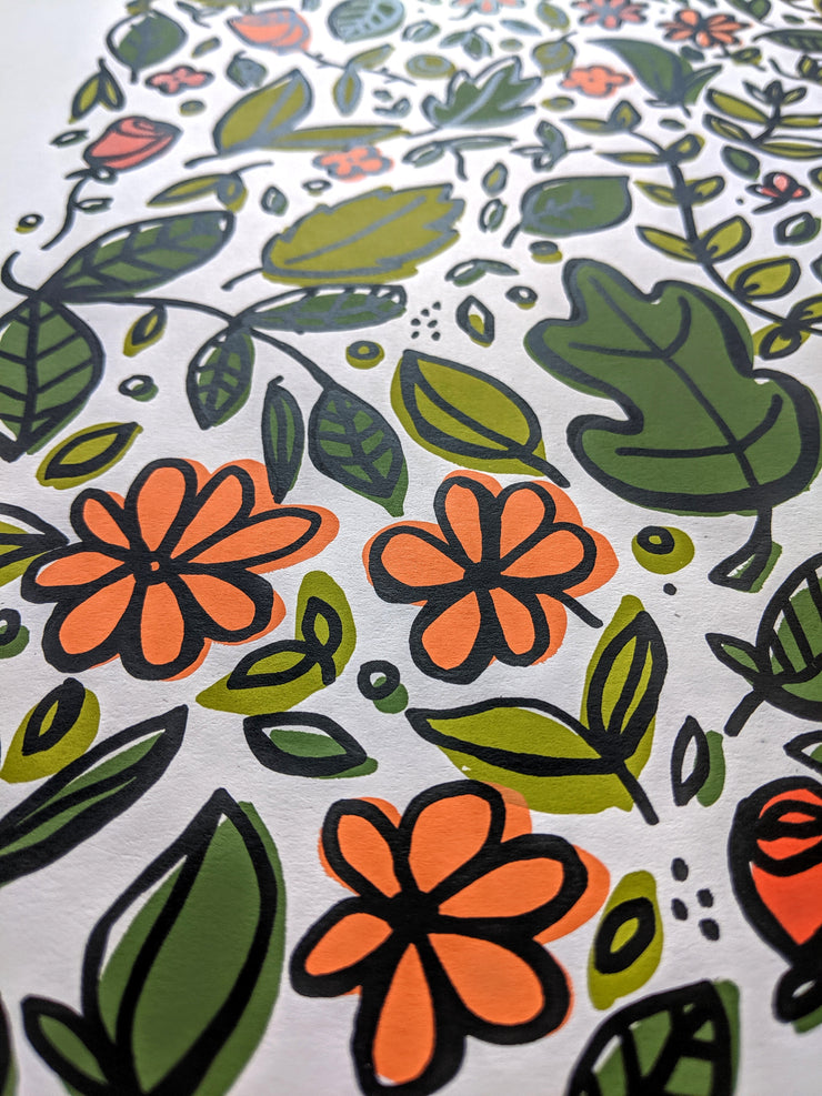 Wild Garden Screen Print from Brainstorm