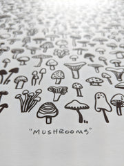Brown Mushrooms Print by Brainstorm
