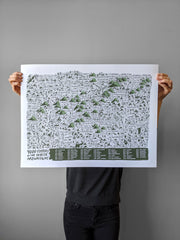 4000 Footers of the White Mountains New Hampshire Print by Brainstorm