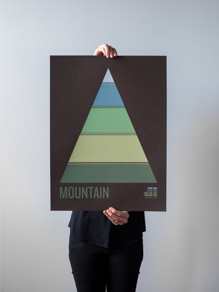 Mountain on Brown