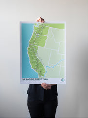 The Pacific Crest Trail Map Print by Brainstorm