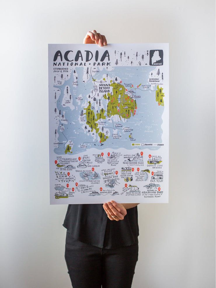 Acadia National Park Map by Brainstorm